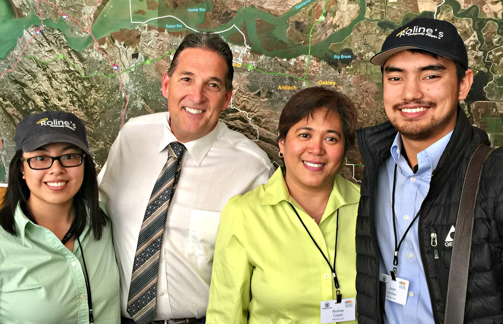 - Margarita, Roline and Josh with Assemblyman Jim Frazier at the State Capitol for Restaurant Day - April 18, 2017