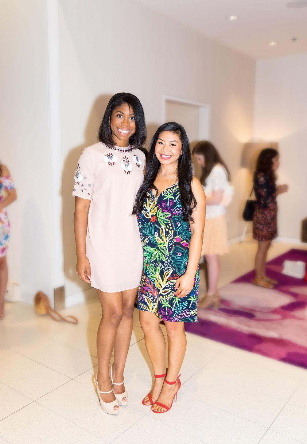 Lynn  and I at The Houston Blogger Brunch.Photo Courtesy of Diamond Oak Photography.