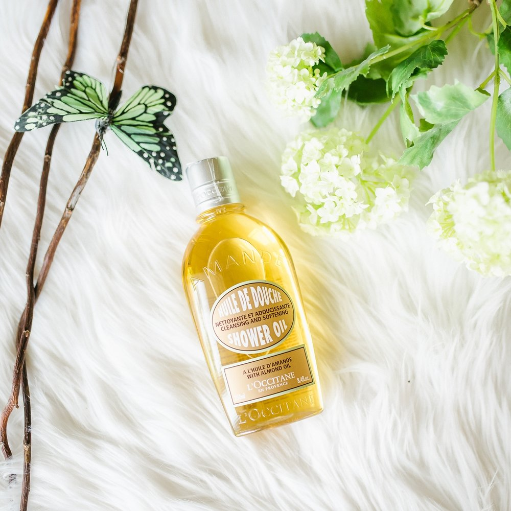 Almond Shower Oil . Full of luxury and rich texture. I didn't want my shower to end.