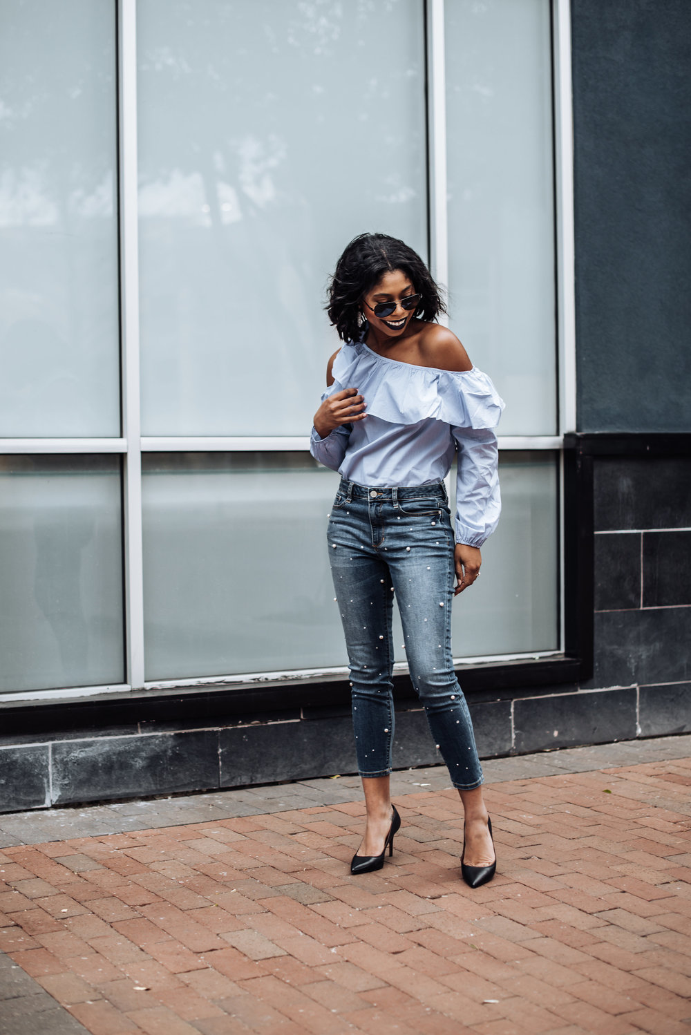JCPenney Spring Fashion Trends Pearl Jeans.JPG