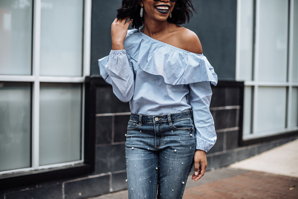 JCPenney Off The Shoulder Ruffle Top .JPG