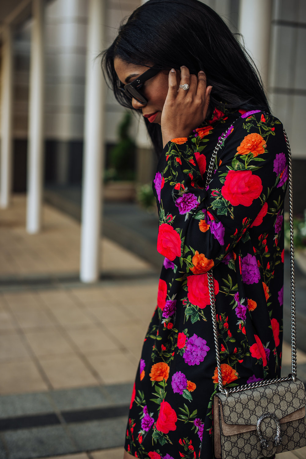 how to style bootie in spring floral dress