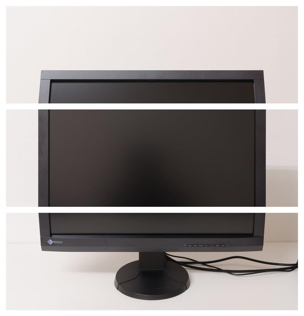 Bildschirm, 2017 Inkjet-Pigmentdruck 3-teilig zu je 73,5 × 24,5 cm
