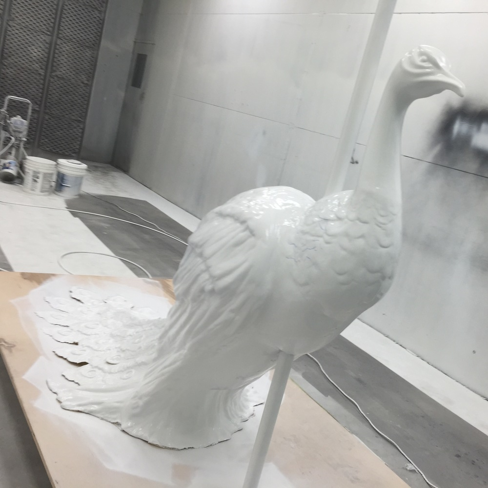 Target, in Vogue NYFW Kickoff Event 2015: Peacock Detail (Vacuformed Plastic, Expanding Foam, Wood, Steel)