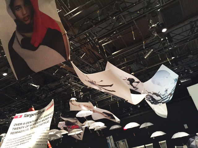 Target, in Vogue NYFW Kickoff Event 2015: Flying Pages (Sintra, Vinyl; 17.5'x12'x1')