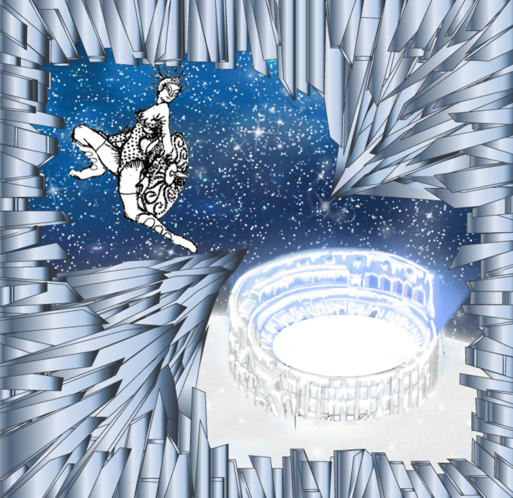 Saks Fifth Avenue Holiday Windows 2015: The Ice Cold Colosseum (Sketch, Courtesy of Just So)