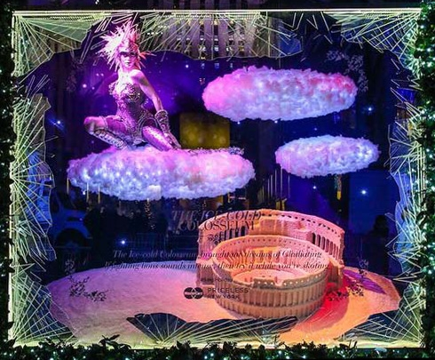 Saks Fifth Avenue Holiday Windows 2015: The Ice Cold Colosseum (10' x 12' x 4')