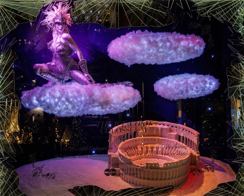 Saks Fifth Avenue Holiday Windows 2015: The Ice Cold Colosseum