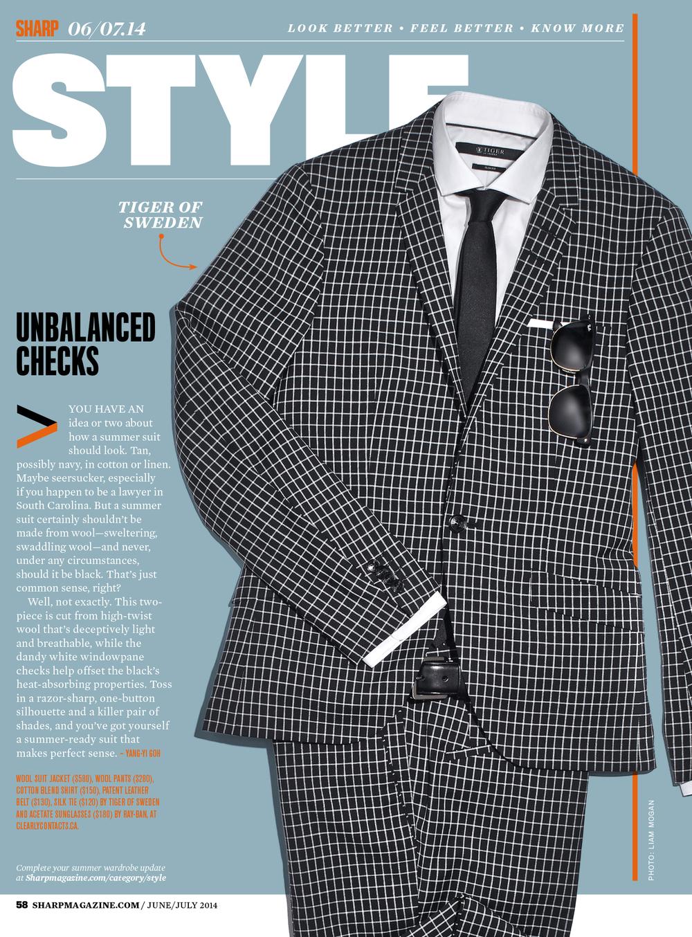 Sharp Magazine / Summer 2014 Tiger of Sweden