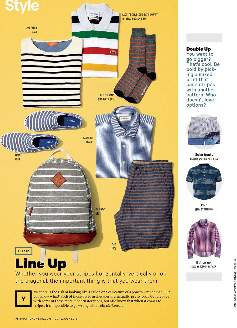 Sharp Magazine / Summer 2015 Stripes
