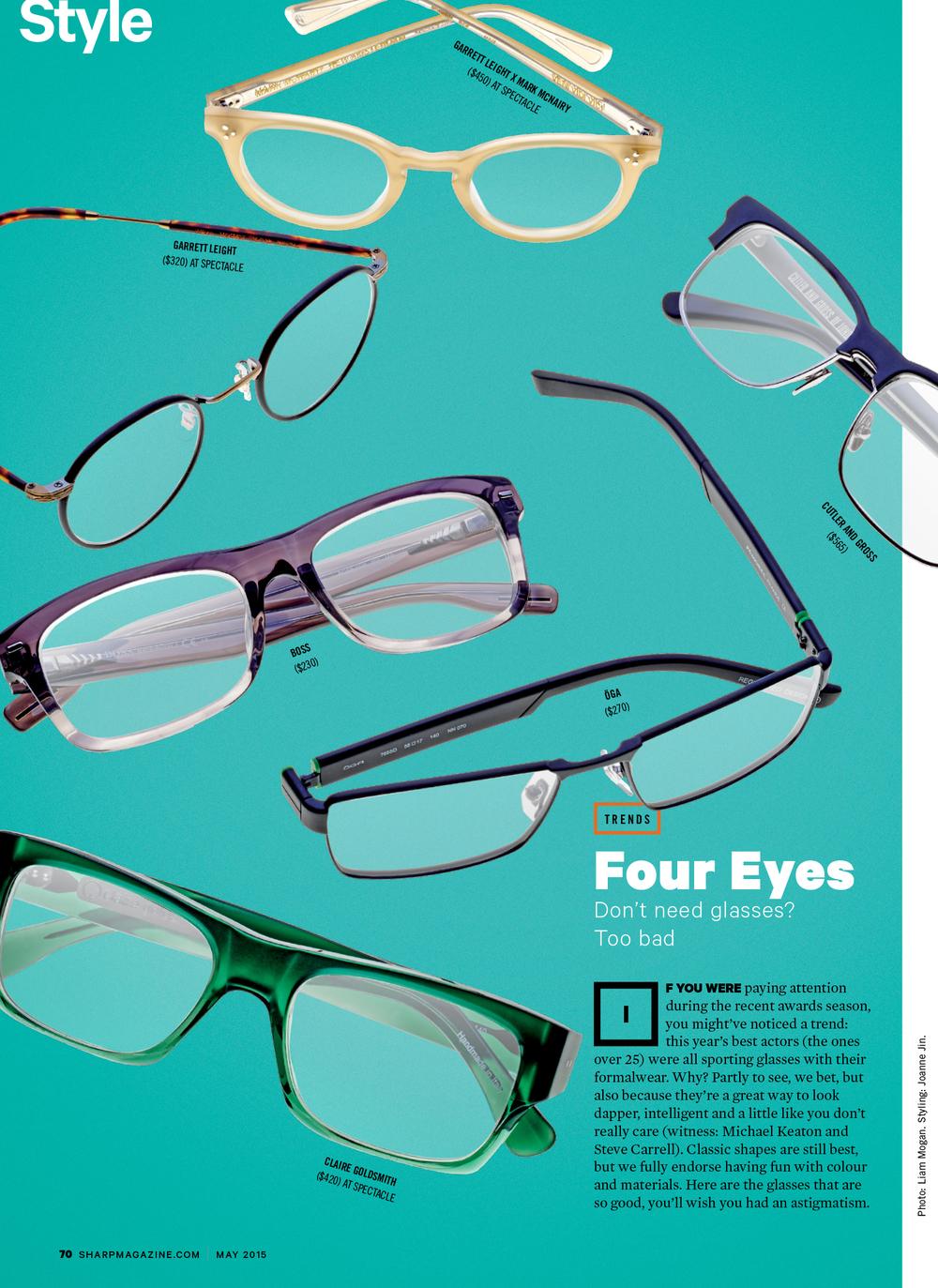 Sharp Magazine / May 2015 Glasses