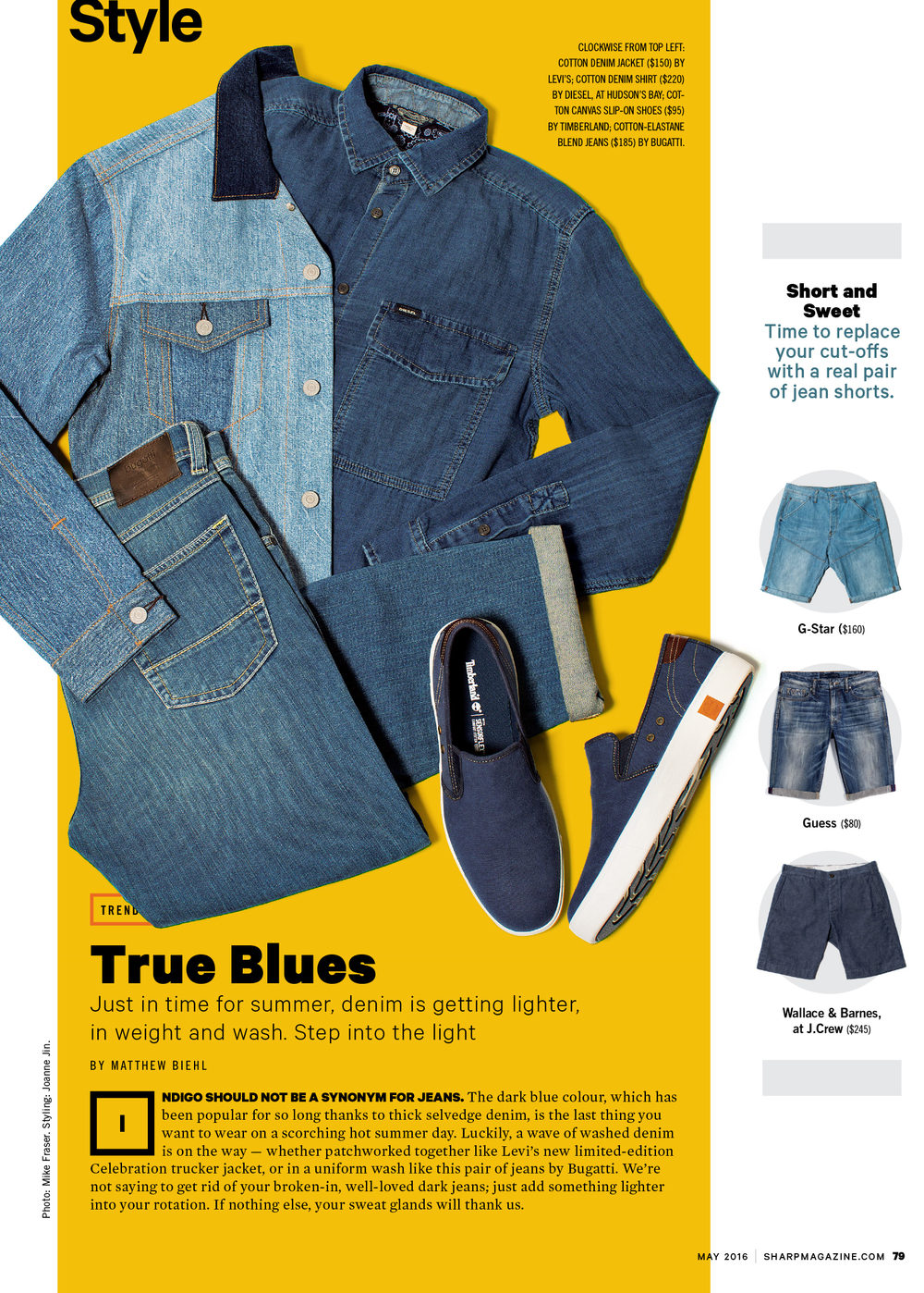Sharp Magazine / May 2016 Jeans