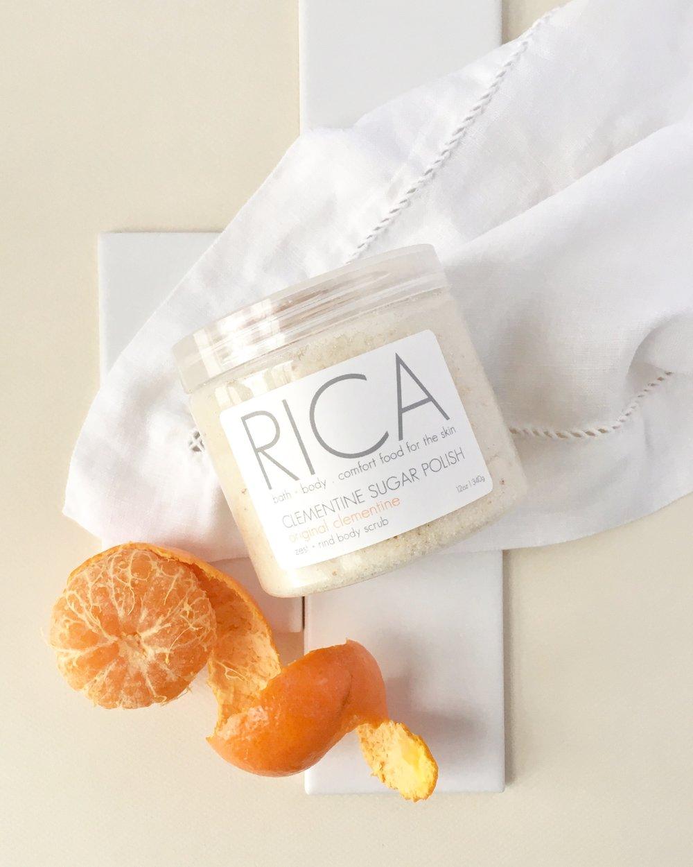 RICA bath + body Clementine Sugar Polish with Unpeeled Clementine.JPG