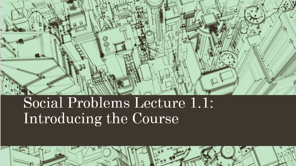 Soc 211: Social Problems - In this course, we study major social problems facing American society. These include issues relating to poverty, homelessness, alcohol and drug problems, race and ethnic relations, aging and mental illness.Click here to download the course syllabus