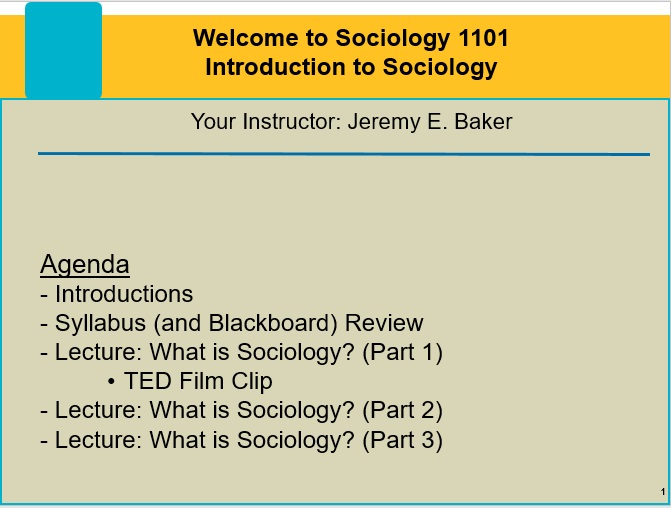 Introduction to Sociology - In this course, students learn the basics of sociology. This includes basic social scientific definitions, a review of the Scientific Method, and an overview of research methods commonly used by sociologists. Later in the course, we examine topics such as race and ethnicity, gender and sexuality, and the unequal distribution of wealth in American society.Click here to download the course syllabus