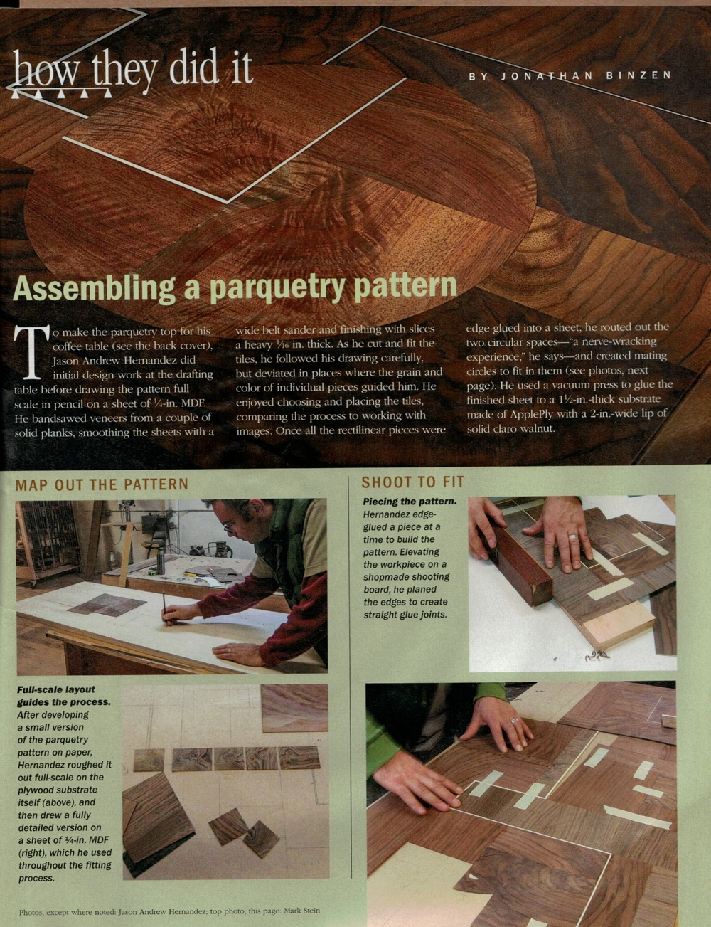 Fine Woodworking Parquetry — Grain Furniture Studio