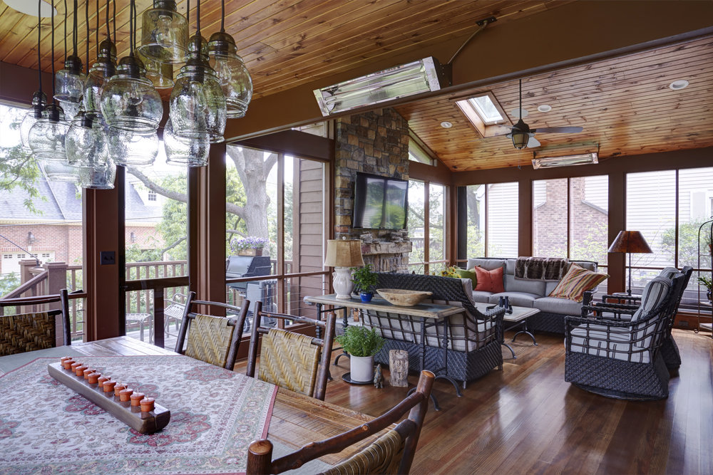 Rustic Sunroom Traditional Kitchen Two Hands Interiors