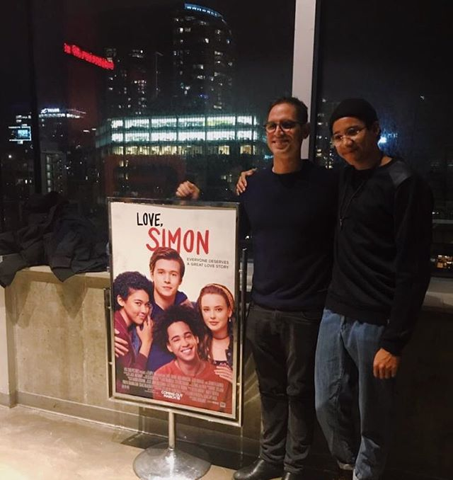 Couldn't have dreamed of a better man to direct this story. 10 days til @lovesimonmovie comes out in theatres 🌹