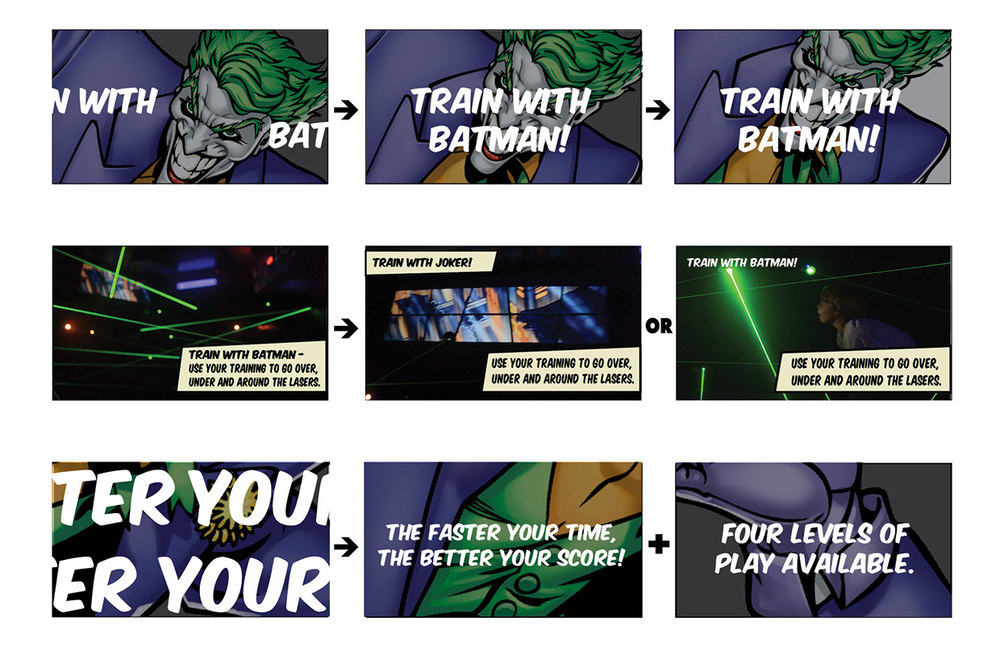 Quick Visual Storyboard - Batman Themed