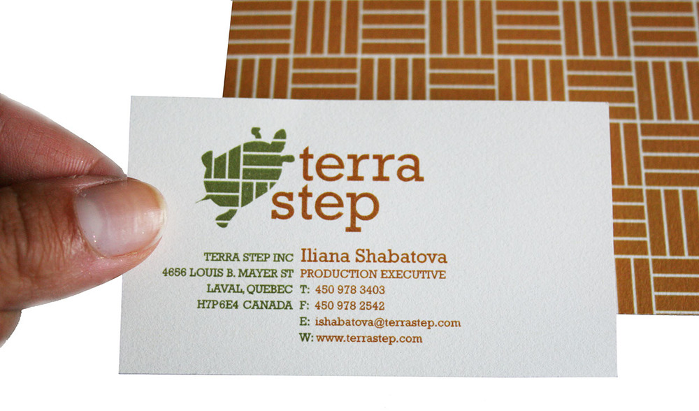 Business Cards (front and back)