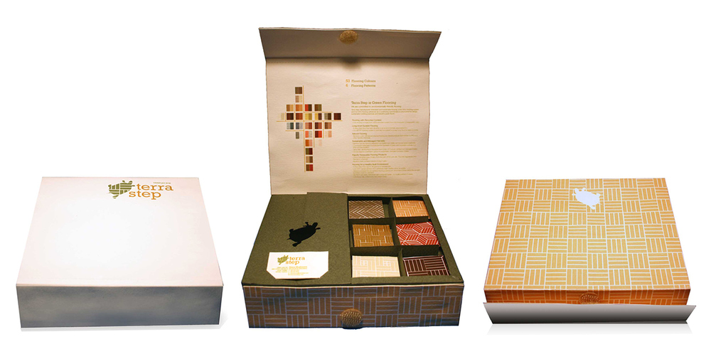 Sample Box   (top, inside, bottom)