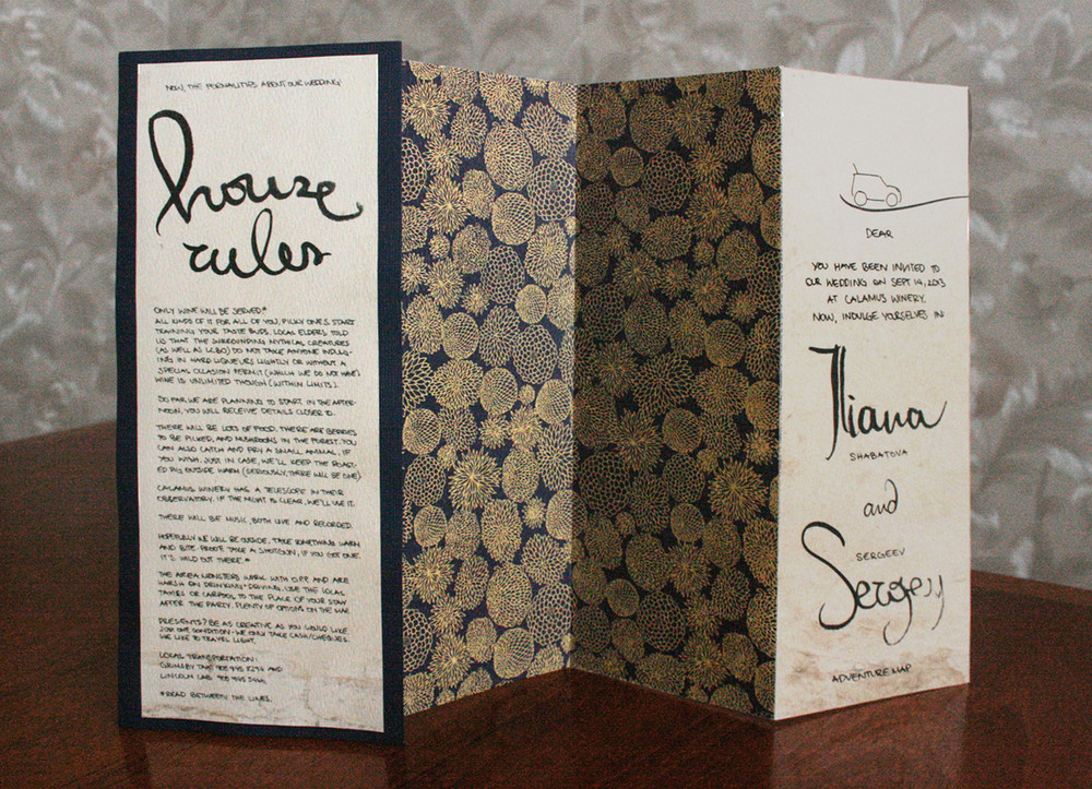 3 Fold Invitation (front, back)