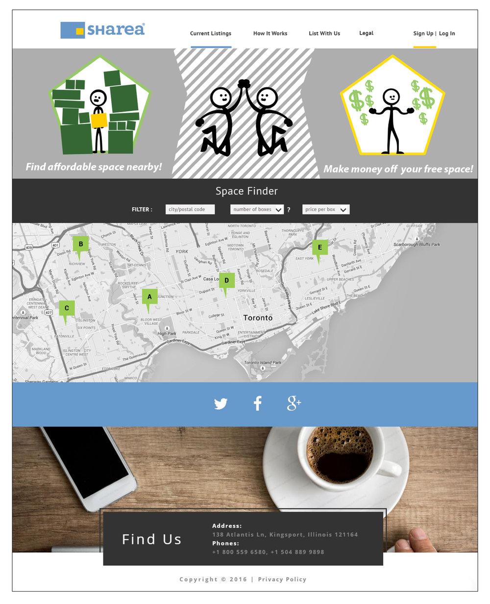 Sharea Website Landing Page