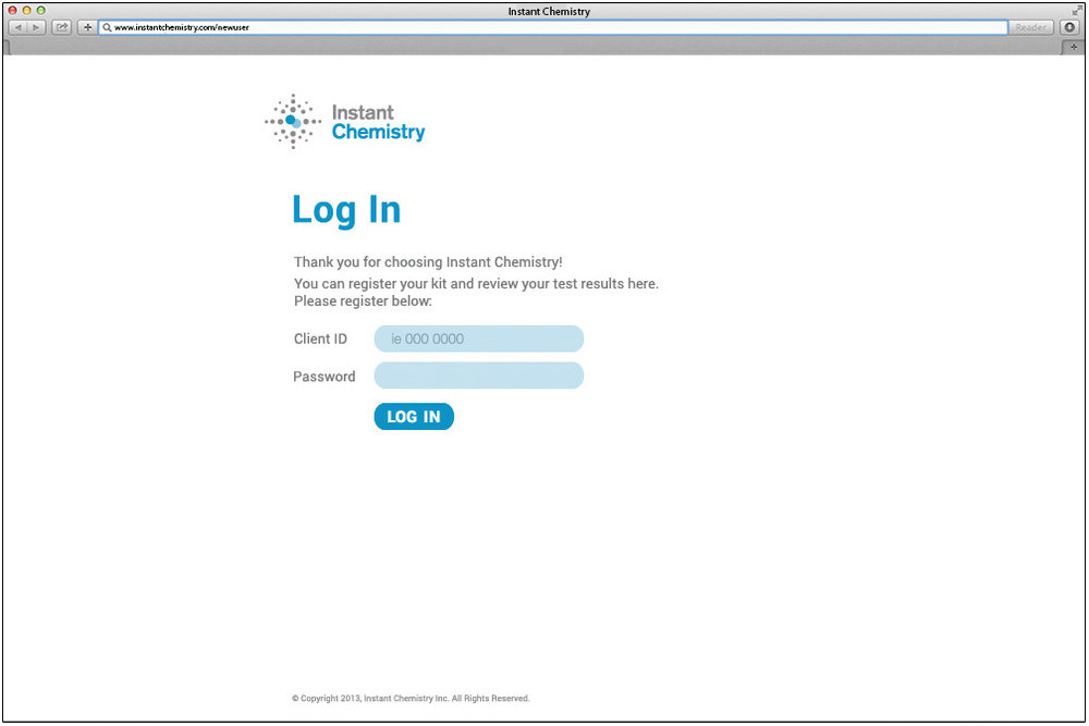 Client Portal - Log-In Page