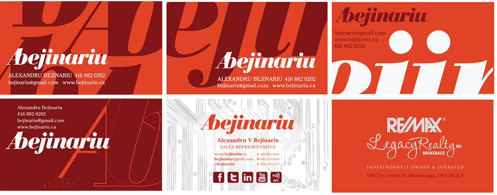 Initial Business Card Layouts
