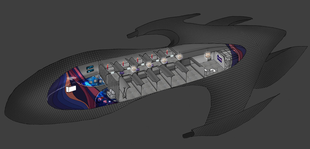 Interior Diagram for Web Use - Spaceship Illustration
