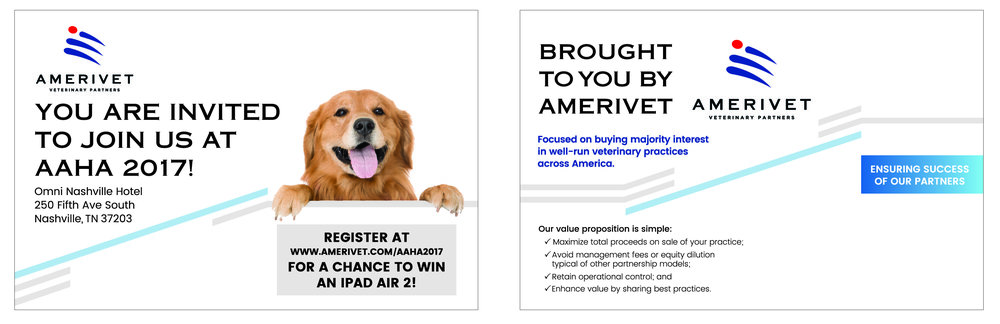 AmeriVet Conference Invite 8.5x5.5 (left) Font Side (right) Left Side