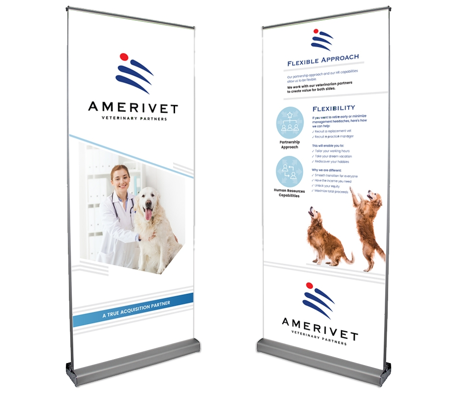 AmeriVet Retractable Conference Banner