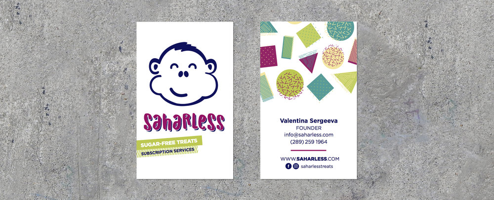 Saharless Business Cards (above)