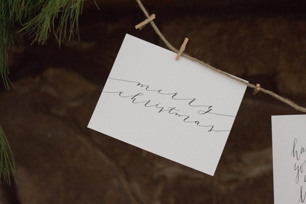 Organic Calligraphy Christmas Card