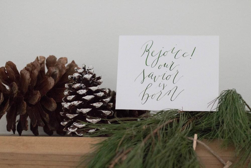 Modern Calligraphy Christmas Card