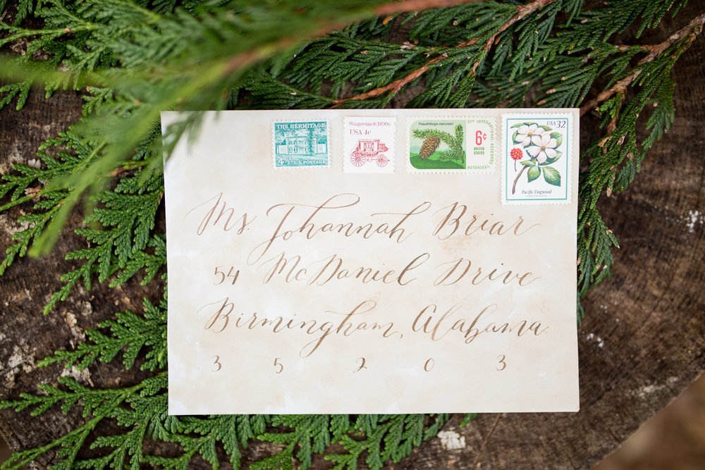Organic Calligraphy Envelope Addressing