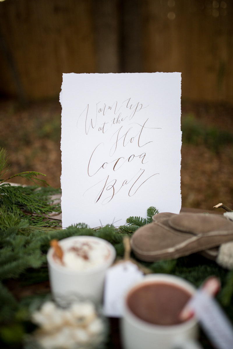 Hot Cocolate Bar Calligraphy Sign