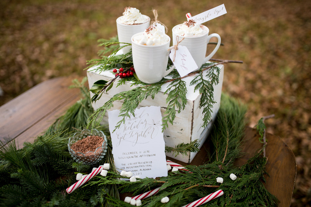 Organic Calligraphy Christmas Shoot