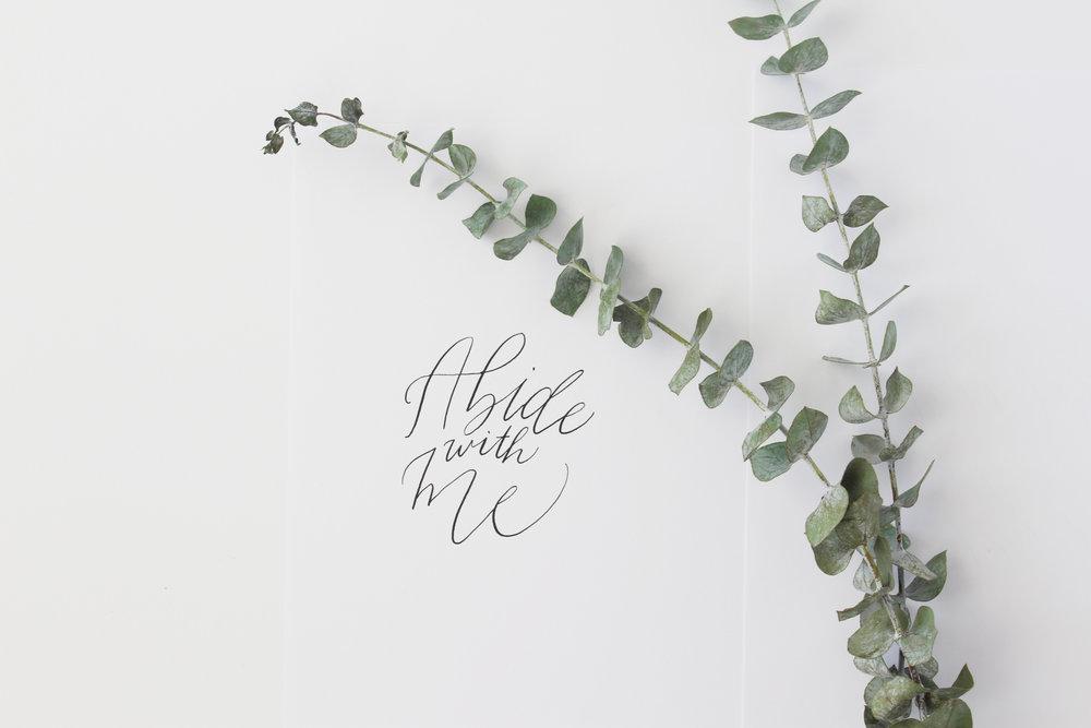 Abide in Me Organic Calligraphy