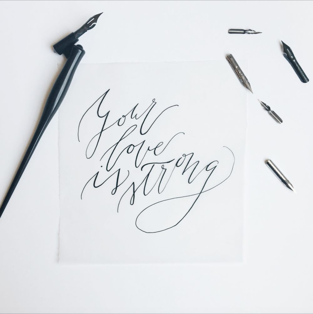 Organic Calligraphy Quote