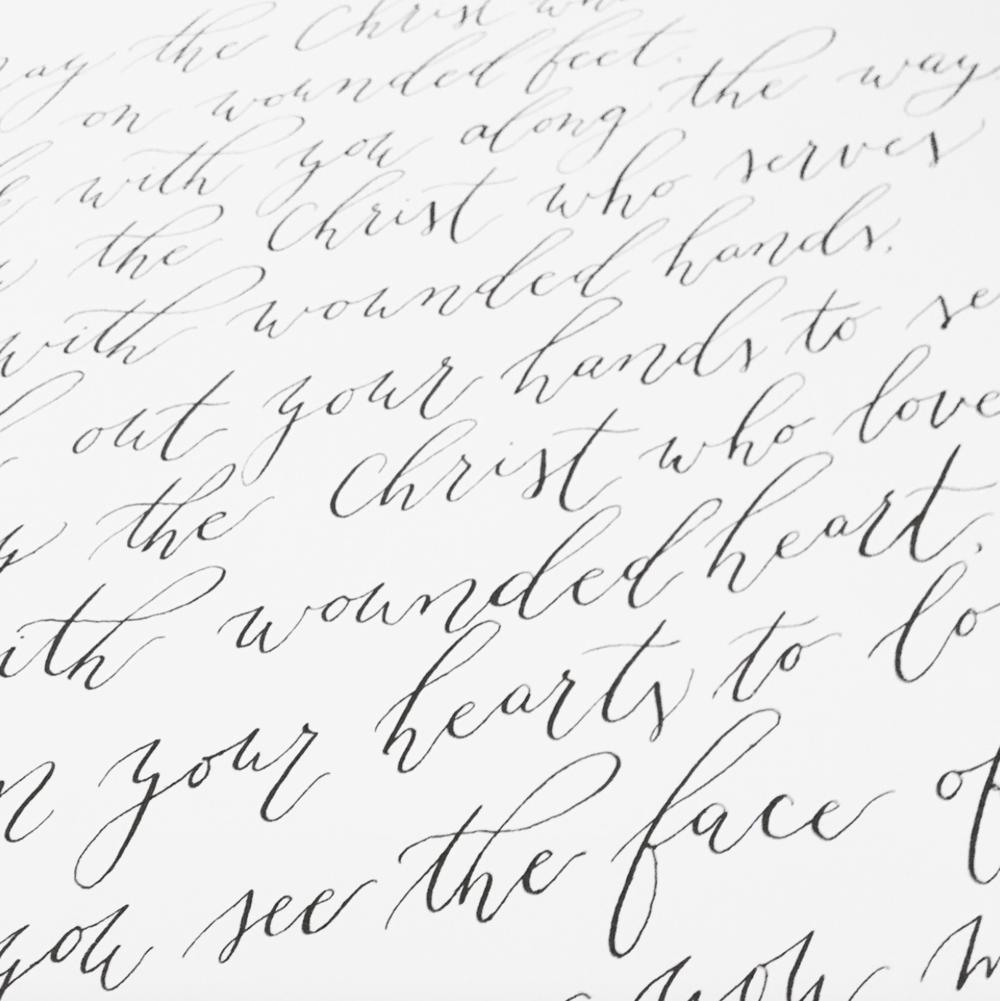 Modern Calligraphy Print