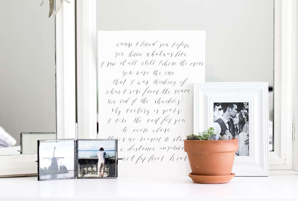 Modern Calligraphy Custom Print for in Your Home - True North Paper Co.