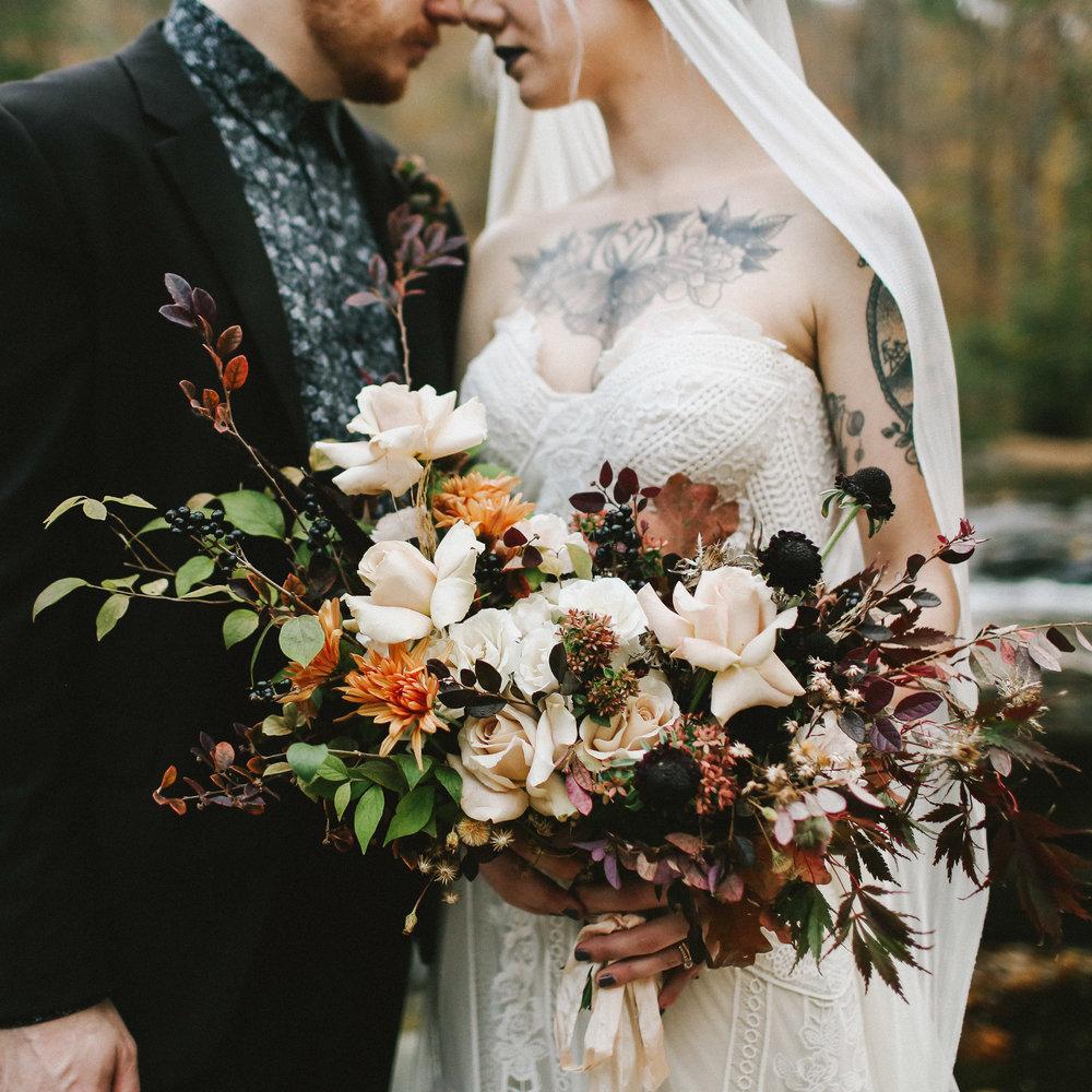 Moody Autumn Wedding Shoot - Edgy Fall Wedding Ideas
