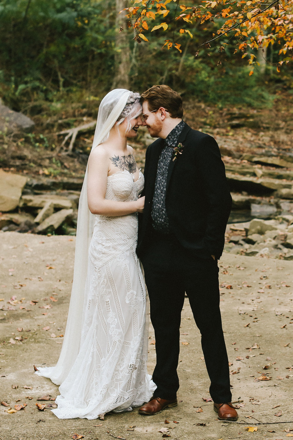 Creekside Fall Wedding Shoot - Autumn Wedding Inspiration and Ideas