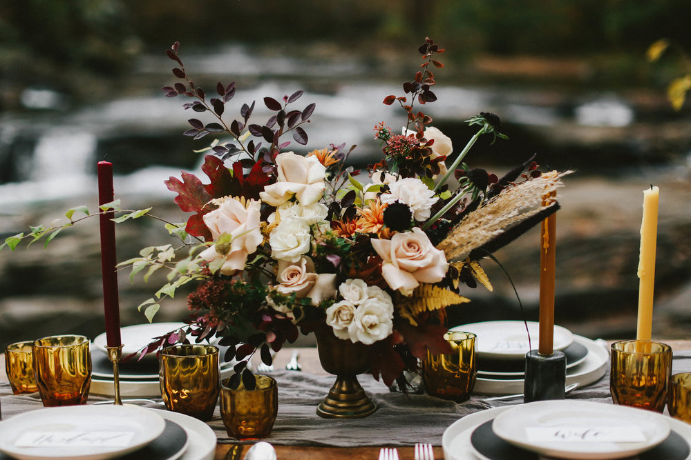 Fall Wedding Shoot - Moody Autumn Ideas and Inspiration
