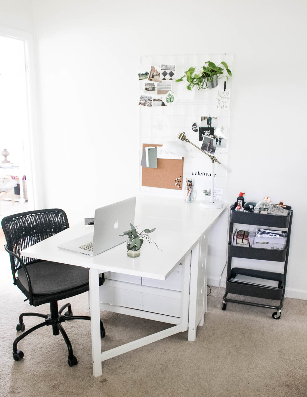Norden Ikea Table as Desk - Small Work Space - True North Paper Co.