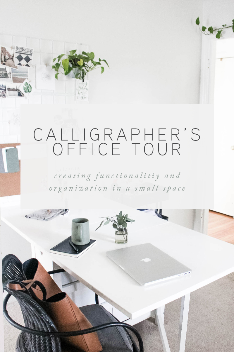Calligraphers Office Tour - Creating Functionality in Small Space - True North Paper Co