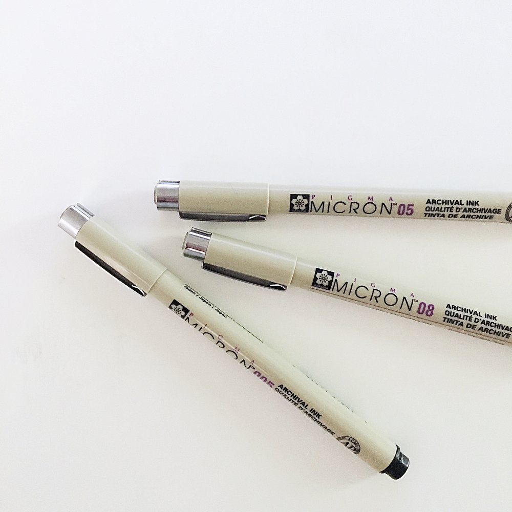 Micron Pens - My Favorite Calligraphy Supplies - True North Paper Co.