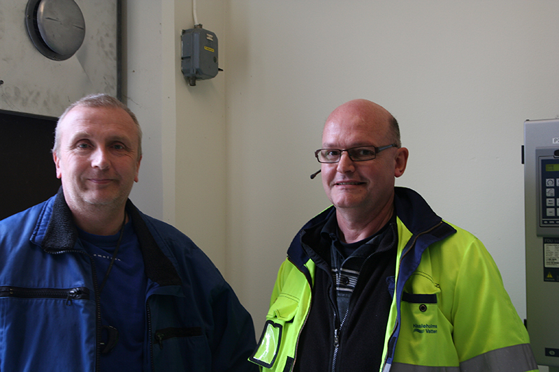 Anders Robertsson, CG Drives & Automation & Christer Nilsson, Hässleholms Vatten