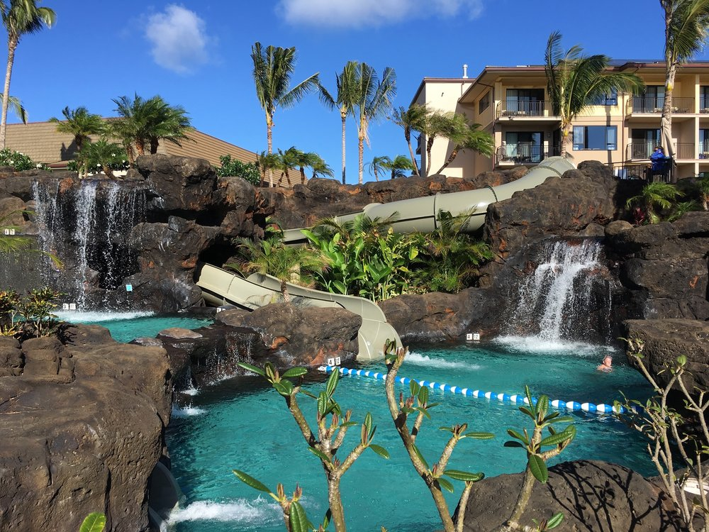 One of the pools at Koloa Landing Resorts on the island of Kauai, Hawaii